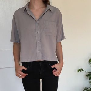 Thread + Supply Cropped Button Up